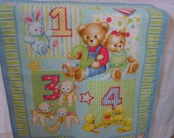 Blue Jean Teddy Comforter   34 in. x 42 in.
