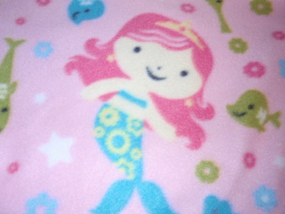 Reserved for Nicola - Two Little Miss Mermaid Small Blankets