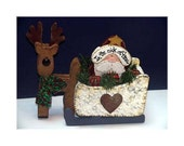 In The Nick Of Time Santa  Wooden Santa & Sleigh Christmas Decoration