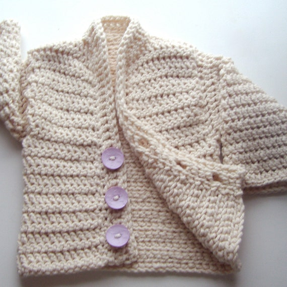 Ginnifer - adult small sweater in natural white