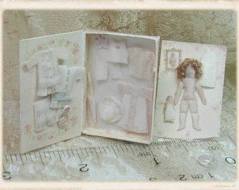 Victorian Doll in Presentatiion Box Kit, also makes a Quarter Scale Girl