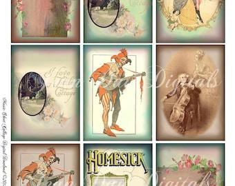 Jester, French Dancers, Phantom, Cottage - Vintage Sheet Music - Printable, Instant Digital Download TF009