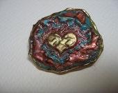 Abstract Heart Pin
