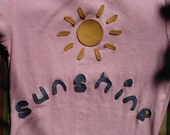 SALE Handmade Sunshine Tshirt Design