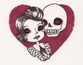 Doomed Love Gocco Print