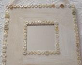 SALE** Shabby Chic Vintage Button Mirror