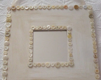 SALE** Shabby Chic Vintage Button Mirror