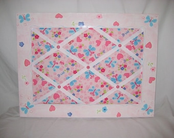 SALE**-Hearts and Butterflies Memo Board