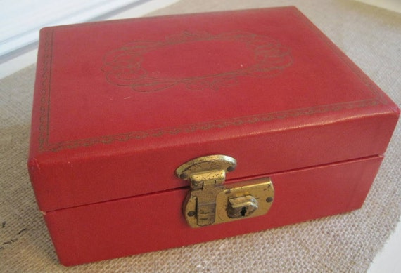 Sweet Red Vintage Jewelry Box