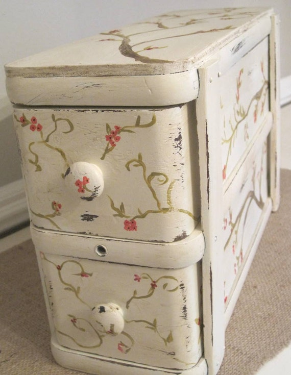 Antique Sewing Drawer Storage Boxes