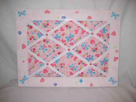 SALE**-Hearts and Butterflies Memo Board