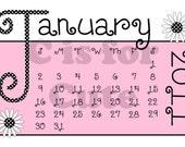 DIGITAL DOWNLOAD 2011 Pink and Black Diva Calendar