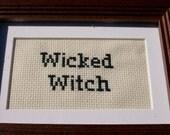 Wicked Witch Framed Cross Stitch