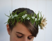 Floral hair accessory - stars in the forest - floral crown,fairy crown,bridal headpiece