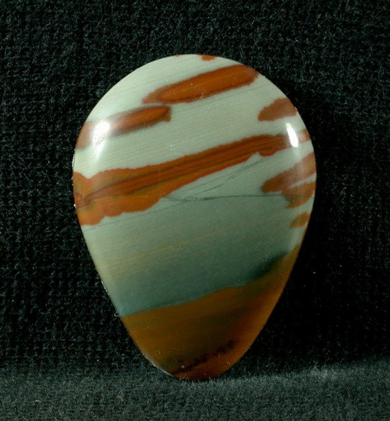 Owyhee Picture Jasper Freeform cabochon from Oregon 23x32x5mm