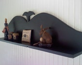 Whale Tail Shelf Primitive Colonial Handcrafted