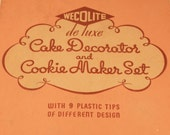 Vintage Cake Decorator and Cookie Maker