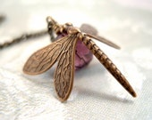 Dragonfly Purple - Necklace