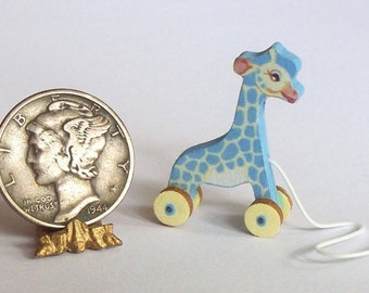 Baby TooTall Giraffe Pull Toy KIT Dollhouse Miniature