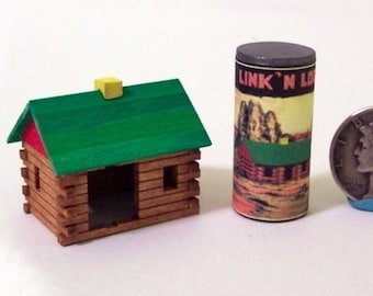 Log Cabin Toy KIT Dollhouse Miniature