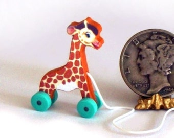 TooTall Giraffe Pull Toy KIT Dollhouse Miniature