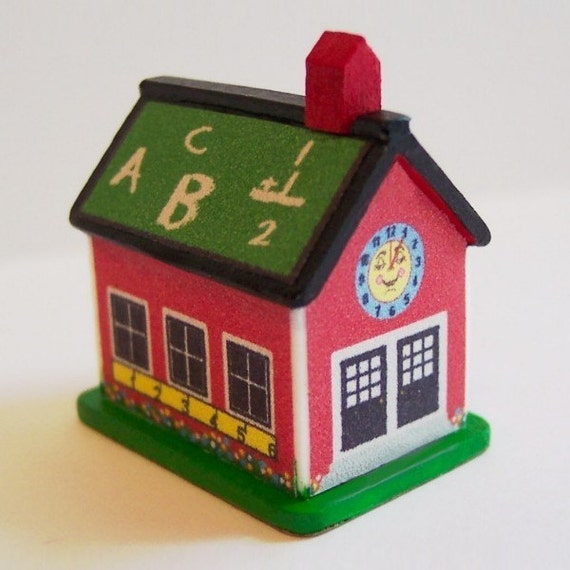 Toys For School : Toy school house dollhouse miniature