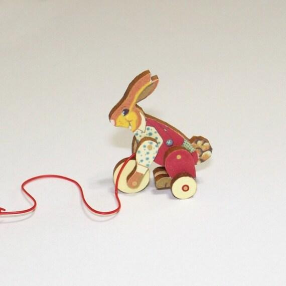 Hunny Bunny Pull Toy KIT Miniature Dollhouse