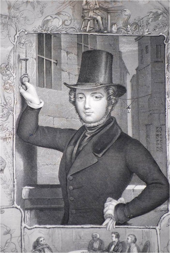 1840 Eugene Sue Engraving by A H Payne