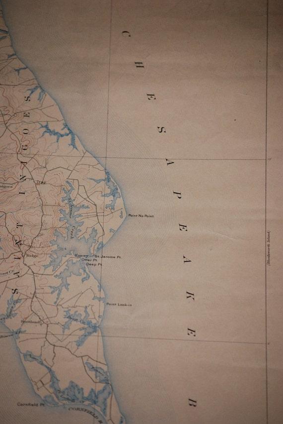 1912 Chesapeake Map