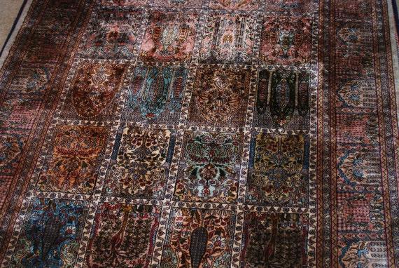 Opulent Garden Style Kashmiri Carpet 4x6 Rug