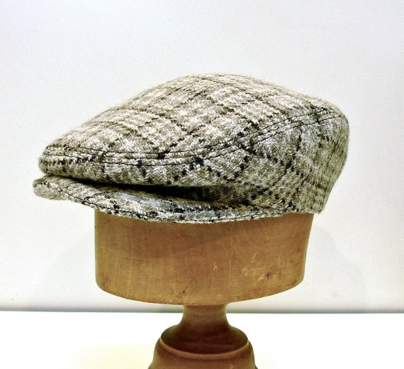 Men's Driving Cap in Vintage Welsh Wool - Made to Order in Your Size