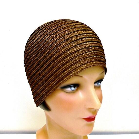 Straw Braid Cloche Hat