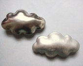Silver cloud - porcelain wall  cloud pillow