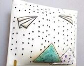 Fly away- porcelain wall pillow
