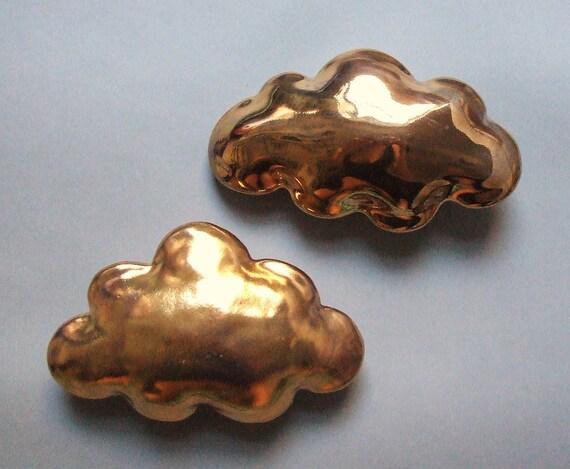 Golden cloud - porcelain wall  cloud pillow