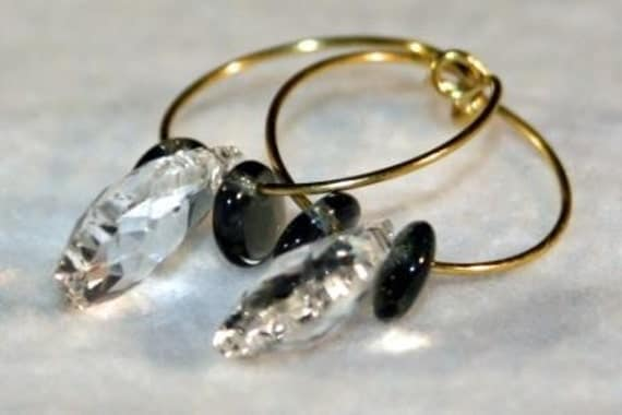 Crystal Hooped Earrings