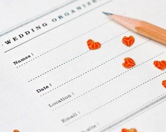 Letter printable WEDDING PLANNER  (50 kinds of worksheets, tabs, organizer, workbook, templates)