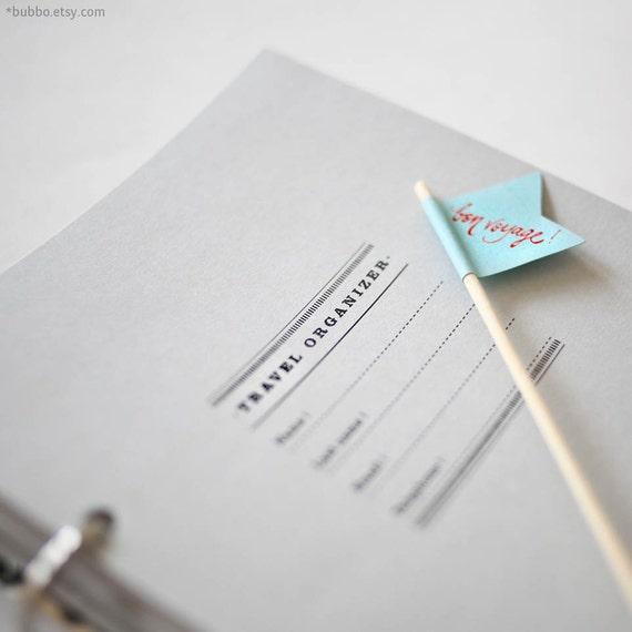 Half-letter TRAVEL PRINTABLE organizer  / trip planner (50 kinds of pages / 28 tabs / templates / worksheets)