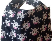 Anti-Plastic Grocery Bag in Black and  Pink Skulls SALE