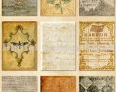 Vintage ATC ACEO backgrounds no 004 Collage scrap sheet Buy 3 Get 4th free