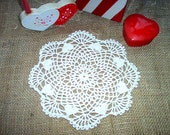Natural Hearts Doily Crochet Lace Thread Art New Handmade