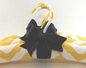Padded Hangers Sunflower Yellow ZIG ZAG PATTERN