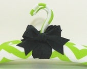 Chartreuse Padded Hangers ZIG ZAGS