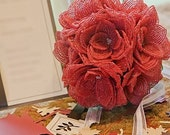 Pink Rose Wedding Bouquet  --ready to ship---- member of the artisan group