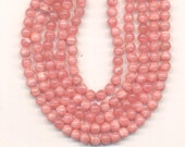 Rhodocrosite Beads - 4mm round