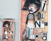 Funky Christian Domino Pendant