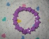 Kawaii Super Stars Pastel Purple Kandy Bracelet
