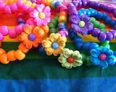 Summer Flowers - Plastic Kandi Bracelet (choice of color)