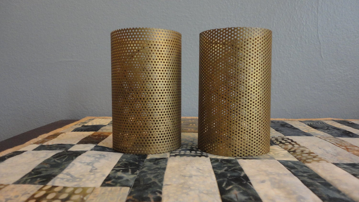 Vintage Sconce Lamp Shades Perforated Steel Modern