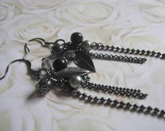Bits of Black Dangle Earrings